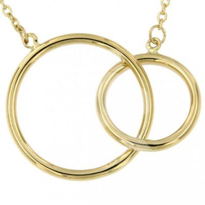 Gouden collier twee cirkels