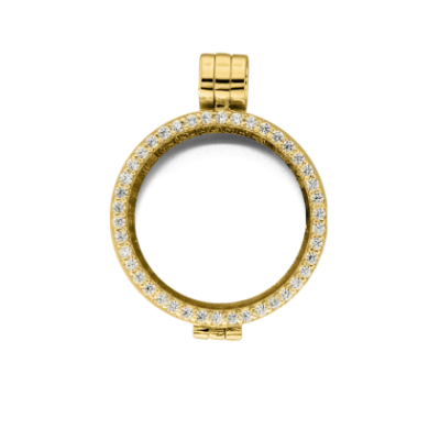 Medaillon gold-plated zirkonia