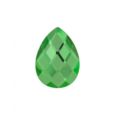 Faceted mirror glass green