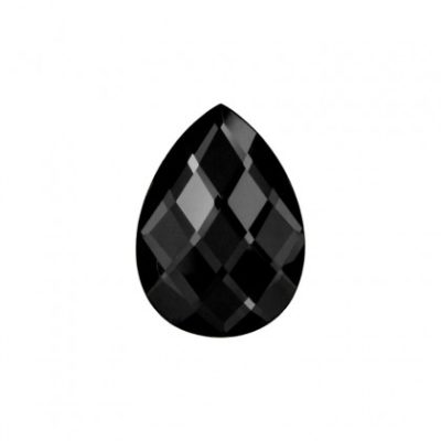 Faceted mirror glass black