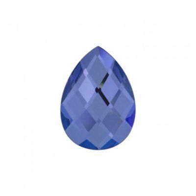 Faceted mirror glass dark blue
