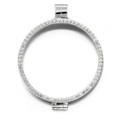Medaillon zilver zirkonia