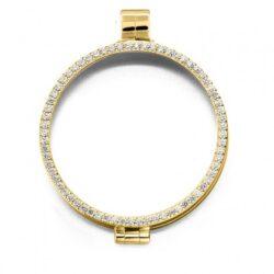 Medaillon gold-plated zirkonia