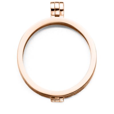 Medaillon rosegold-plated glad