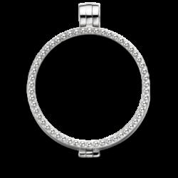Medaillon zilver pearl