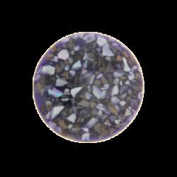 Dark purple in resin crushed shell