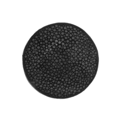 Dark grey stingray leather