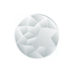 Faceted glass insignia