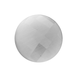 Faceted cat's eye white moon