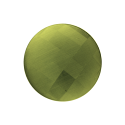 Faceted cat's eye olive green