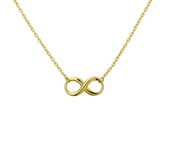 Gouden collier met infinity