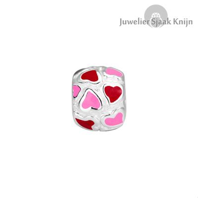 Bellini Hartjes rood/roze emaille