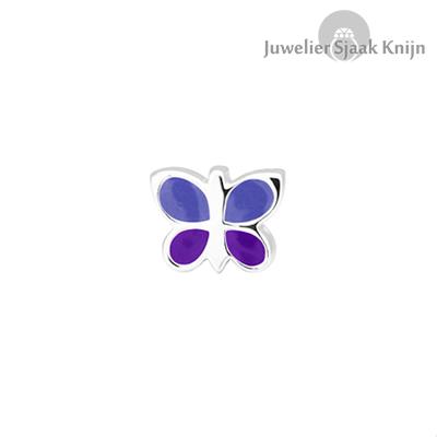 Bellini Vlinder blauw/paars bedel