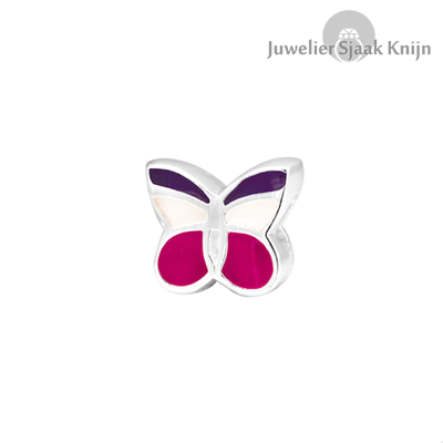 Bellini Vlinder roze/wit bedel