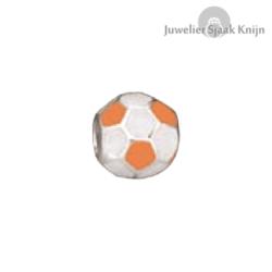 Bellini Voetbal oranje/wit emaille