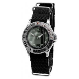 Cool Watch Staal-canvas zwart