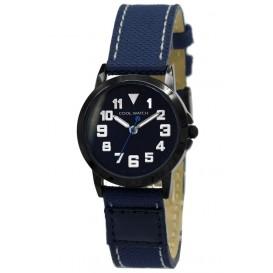 Cool WatchStaal-canvas blauw-zwart