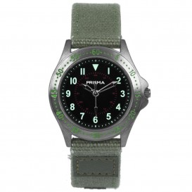 Cool Watch Staal-canvas groen