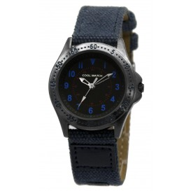 Cool Watch Staal-canvas blauw