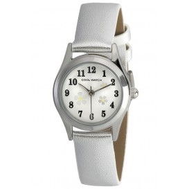 Cool Watch Bloem zilver