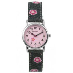Cool Watch Bloem denim grijs
