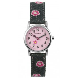 Cool Watch Bloem denim grijs
