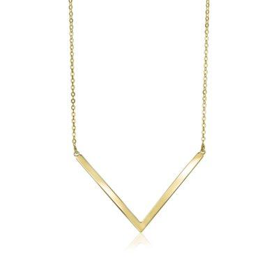 Zinzi Gold 14 karaat gouden collier v-vorm
