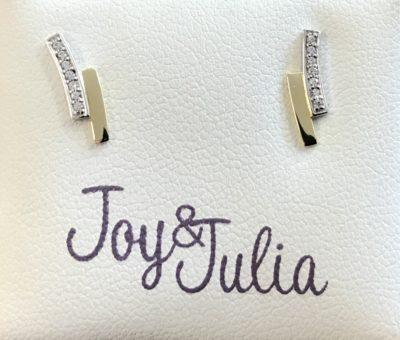 Bicolor gouden, wit zirkonia Joy & Julia