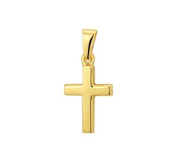 geelgouden kruis hanger