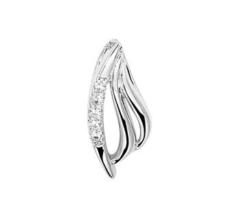 Zilveren hanger met luxe rijzetting van briljant geslepen zirkonia