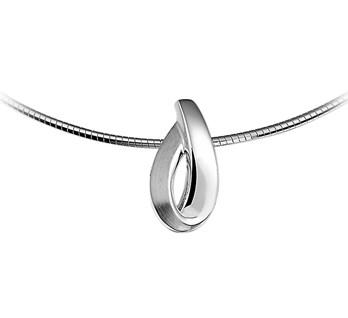 Zilveren hanger met een poli matte afwerking