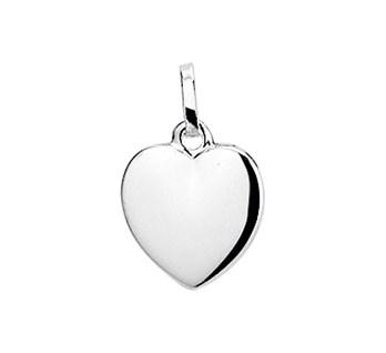 Zilveren hart hanger