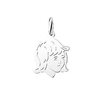 zilveren kinderhoofdje meisje