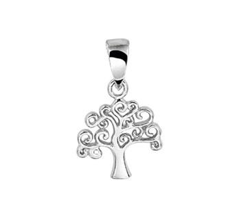 Zilveren levensboom hanger