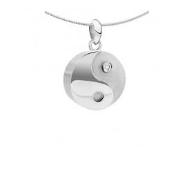 1091z YinYang ashanger zilver met zirkonia