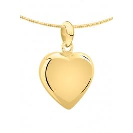 1260g geelgouden ashanger middenmaat hart