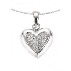1261z zilveren ashanger middenmaat hart met zirkonia