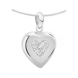 1271z zilveren ashanger groot hart met zirkonia