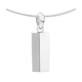 1440z zilveren ashanger buis vierkant