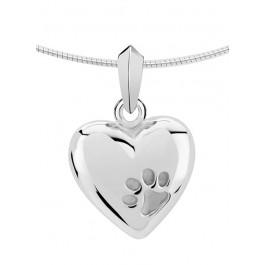 2040z zilveren ashanger huisdier pootafdruk hart