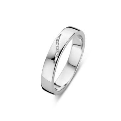 Forever Yours zilveren ring met echte diamant