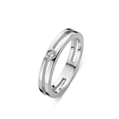 Forever Yours zilveren ring met diamant