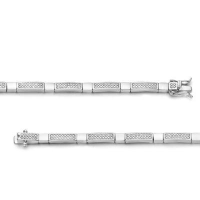 Rosa di Luca zilveren armband zirkonia