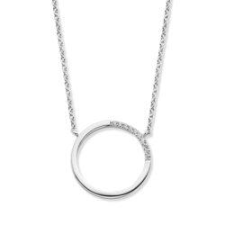 Rosa di Luca zilveren collier met vaste hanger