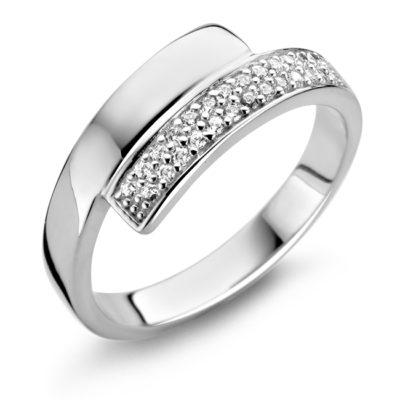 Rosa di Luca zilveren ring zirkonia