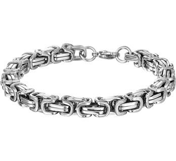 Stalen heren armband koningsschakel