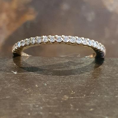 Albino geel gouden ring 0.25crt