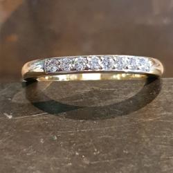 Albino geel gouden ring dielen 0.24crt