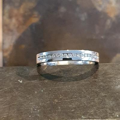 Albino witgouden ring diamonde 0.14crt