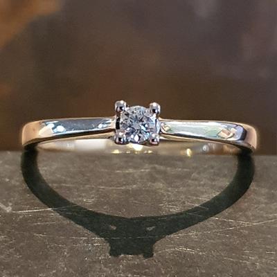 Bernstein geelgouden ring 0.08crt